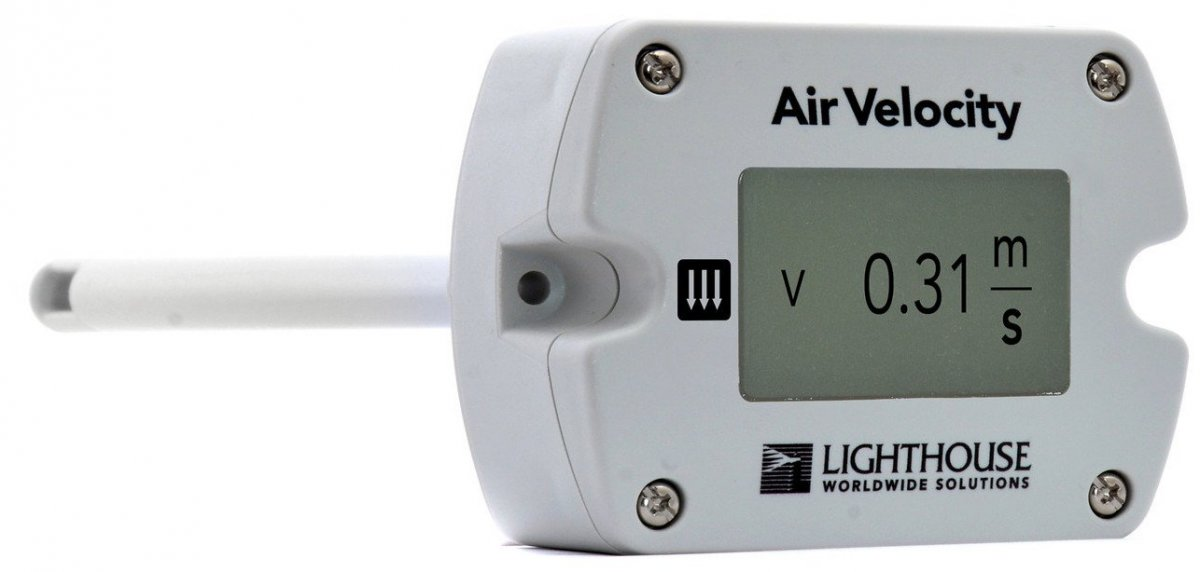 Air Flow Monitor Device : Av remote air sensor for flow monitoring systems