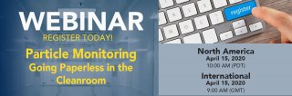 Upcoming Webinar: Particle Monitoring - Going Paperless in the Cleanroom Medium Image