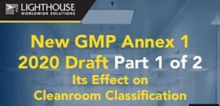 Check out our new video for GMP Annex 1 2020 Draft Medium Image
