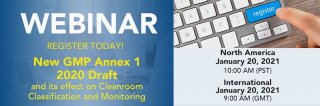 Upcoming Webinar: New GMP Annex 1 2020 Draft and its effect on Cleanroom Classification and Monitoring Medium Image