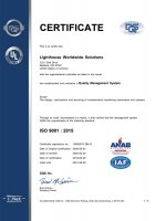 USA, ISO 9001:2015 Certificate Small Image