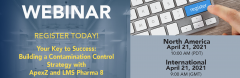 Upcoming Webinar: Your Key to Success: Building a Contamination Control Strategy with ApexZ and LMS Pharma. Small Image