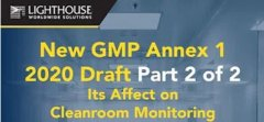 Check out our new video for GMP Annex 1 2020 Draft and how it affects Cleanroom Monitoring Small Image