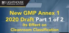 Check out our new video for GMP Annex 1 2020 Draft Small Image