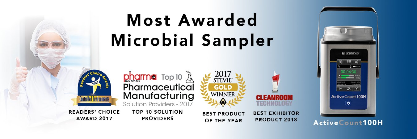 Most Awarded Microbial Sampler: ActiveCount100H